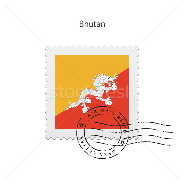 Bhutan Flag Postage Stamp. Stock photo © tkacchuk