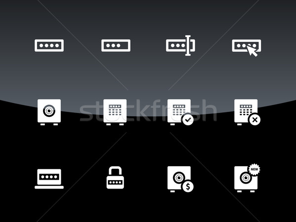 Hasło ikona czarny komputera projektu okno Zdjęcia stock © tkacchuk