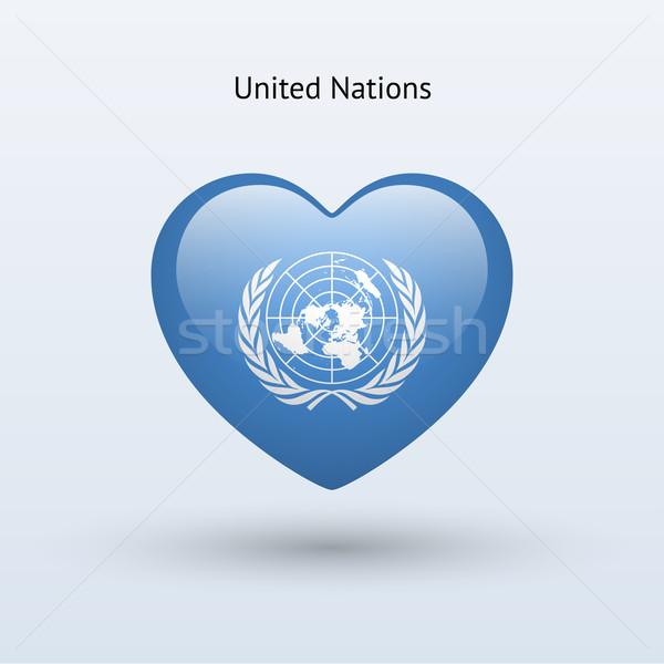 Miłości symbol serca banderą ikona szczęśliwy Zdjęcia stock © tkacchuk