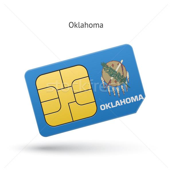 Oklahoma telefoon kaart vlag business technologie Stockfoto © tkacchuk