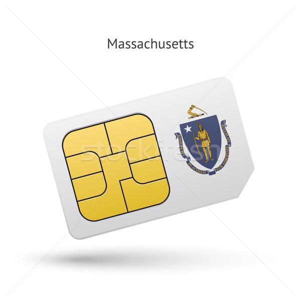 Massachusetts telefon kártya zászló üzlet technológia Stock fotó © tkacchuk
