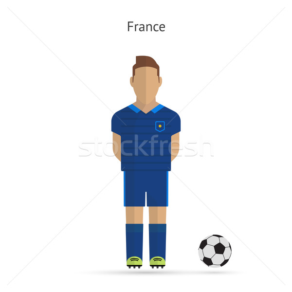 National football player. France soccer team uniform. Stock photo © tkacchuk