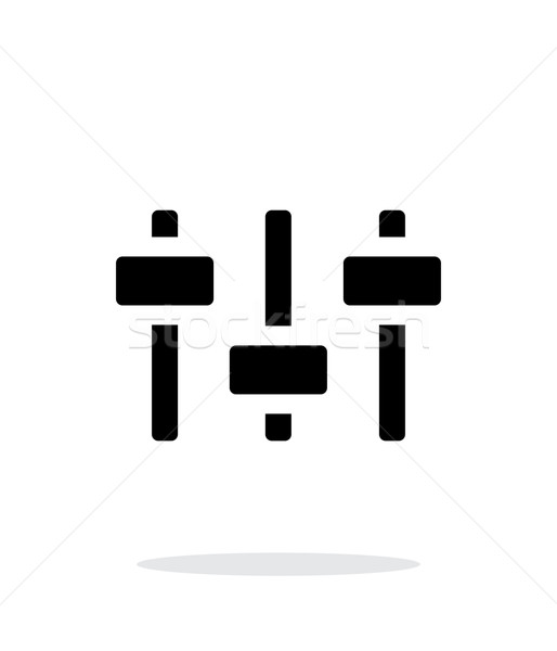 Volume control. Equalizer icon on white background. Stock photo © tkacchuk