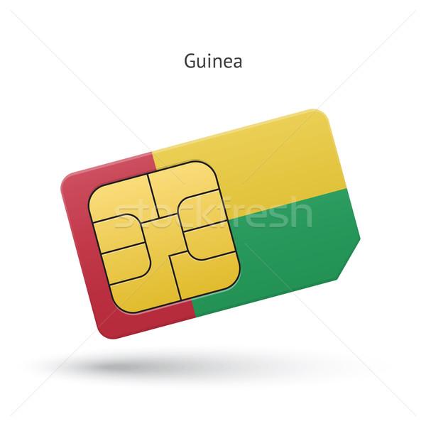 Guinea mobile phone sim card with flag. Stock photo © tkacchuk