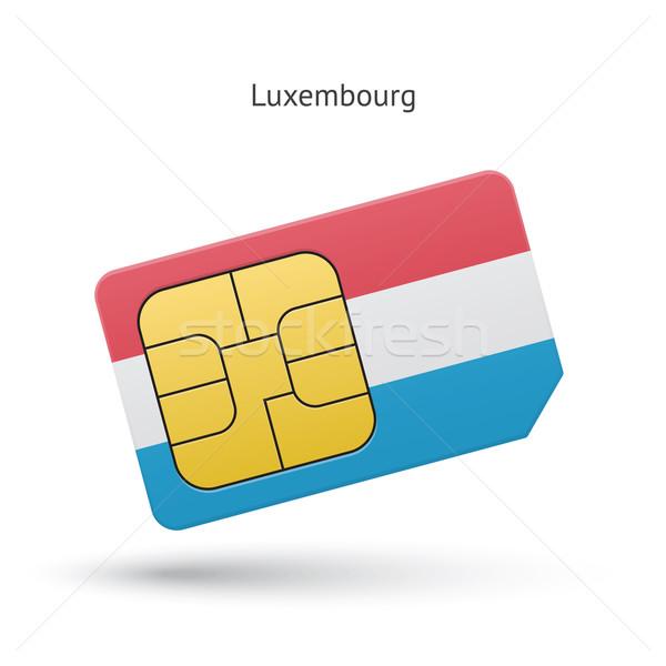 Luksemburg telefonu komórkowego karty banderą działalności projektu Zdjęcia stock © tkacchuk