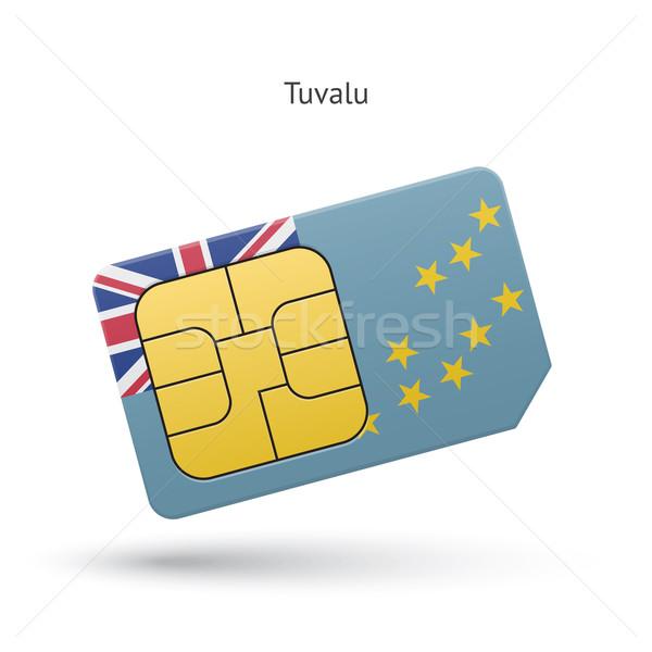 Tuvalu telefone móvel cartão bandeira negócio projeto Foto stock © tkacchuk