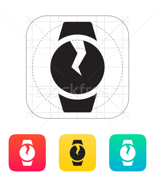 Broken round smart watch icon. Stock photo © tkacchuk