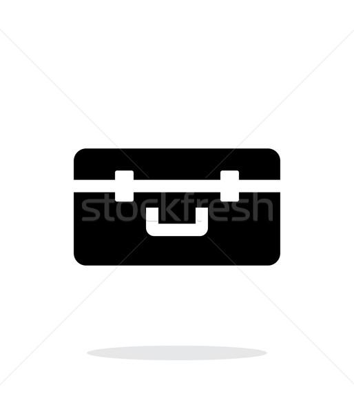 Box for quadcopter simple icon on white background. Stock photo © tkacchuk