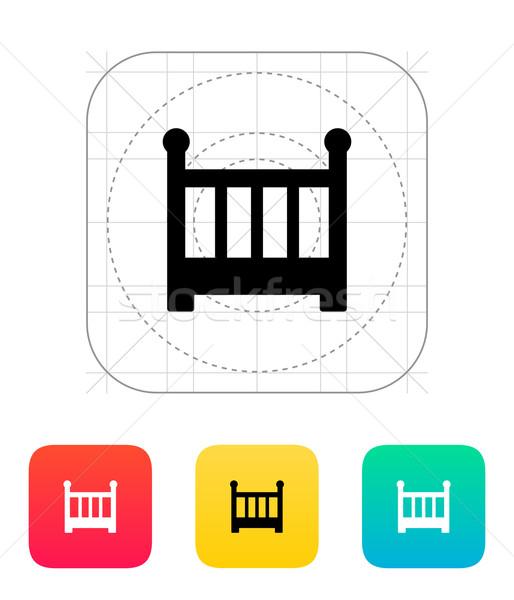 Crib icon. Stock photo © tkacchuk