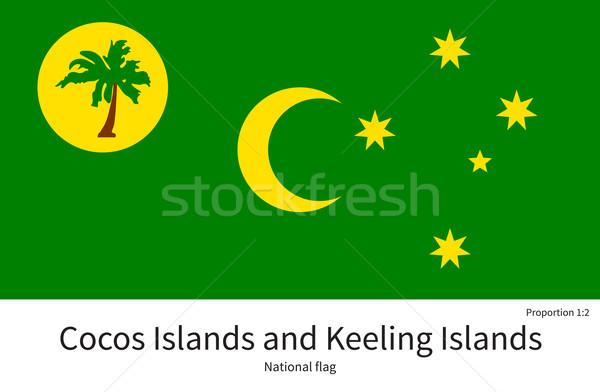 Stockfoto: Vlag · eilanden · corrigeren · element · kleuren · onderwijs