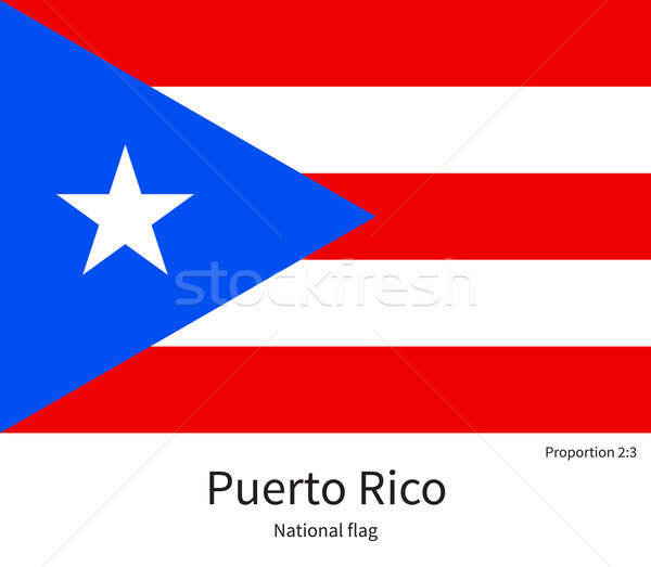 National flag of Puerto Rico with correct proportions, element, colors Stock photo © tkacchuk