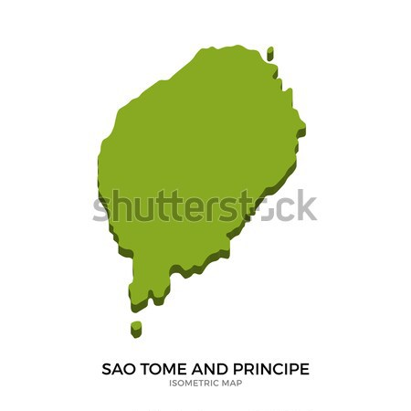 Isometric map of Sao Tome and Principe detailed vector illustration Stock photo © tkacchuk