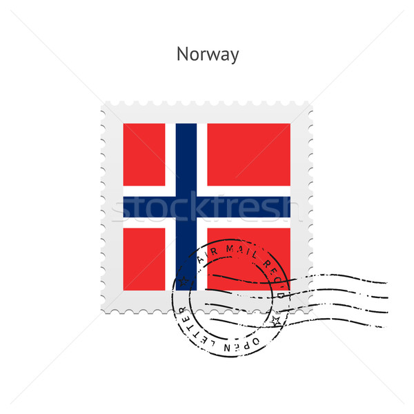 Norway Flag Postage Stamp. Stock photo © tkacchuk