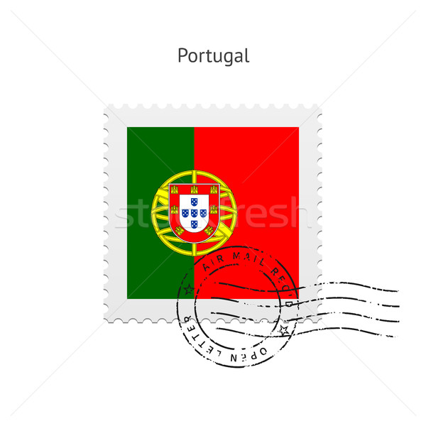 Portugal Flag Postage Stamp. Stock photo © tkacchuk