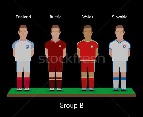 Calcio giocatori calcio squadre Inghilterra galles Foto d'archivio © tkacchuk