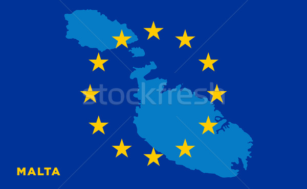 Flag of European Union with Malta on background Stock photo © tkacchuk