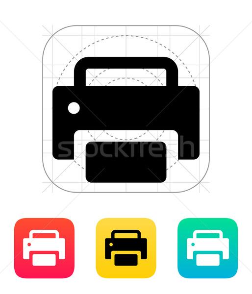 Print icon. Stock photo © tkacchuk