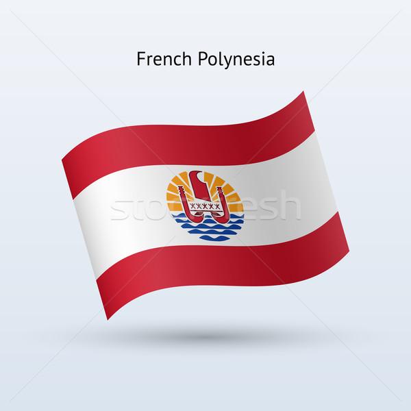 Francese polinesia bandiera forma grigio Foto d'archivio © tkacchuk