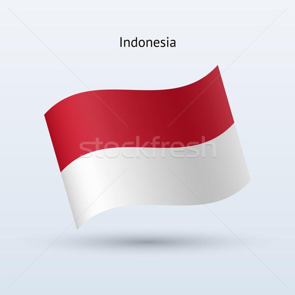 Indonezja banderą formularza szary podpisania Zdjęcia stock © tkacchuk