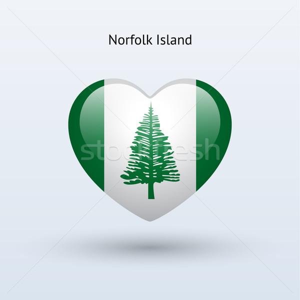 Love Norfolk Island symbol. Heart flag icon. Stock photo © tkacchuk