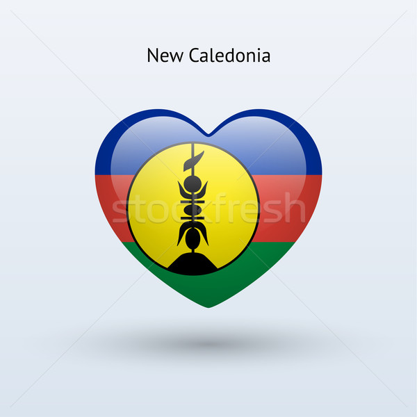 Love New Caledonia symbol. Heart flag icon. Stock photo © tkacchuk