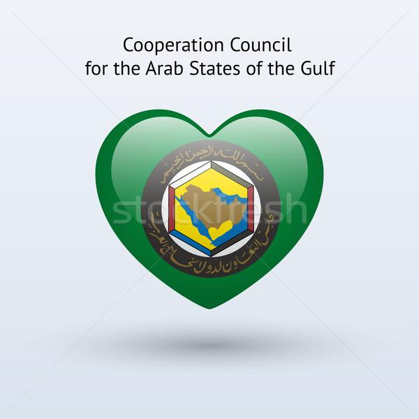 Love Arab States of the Gulf symbol. Stock photo © tkacchuk