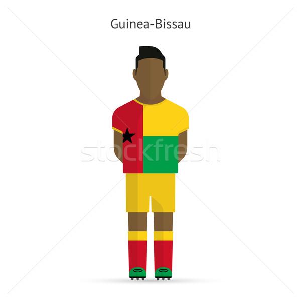 Guinea-Bissau football player. Soccer uniform. Stock photo © tkacchuk