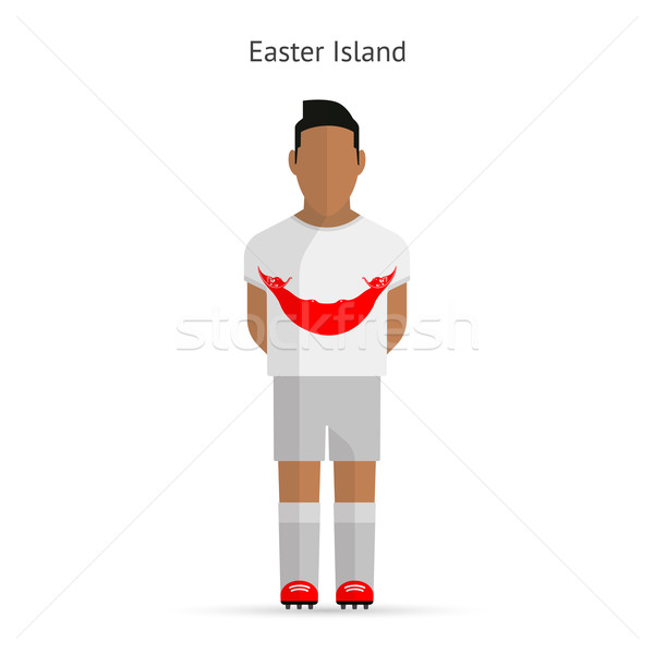 Ilha de Páscoa futebol uniforme abstrato fitness Foto stock © tkacchuk