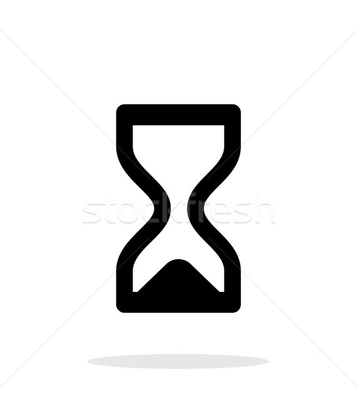 Hourglass ended icon on white background. Stock photo © tkacchuk