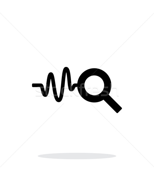 Cardiogram monitoring icon on white background. Stock photo © tkacchuk
