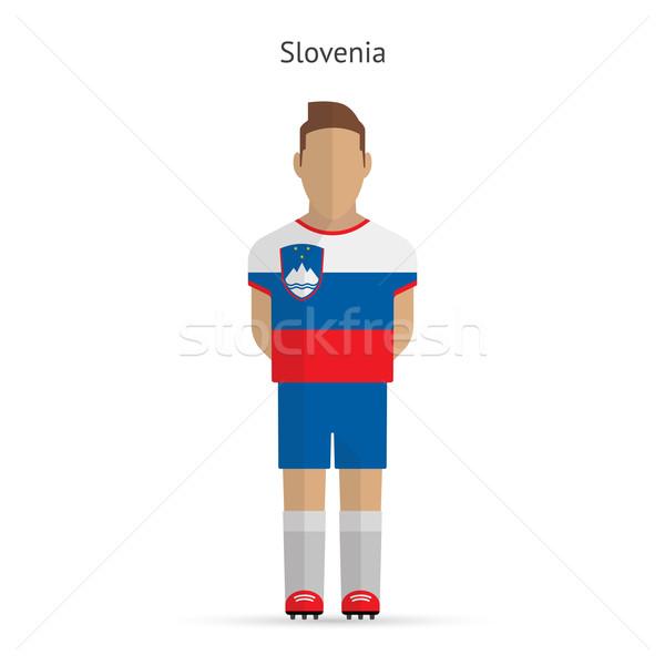 Slovenya futbol üniforma soyut uygunluk Stok fotoğraf © tkacchuk