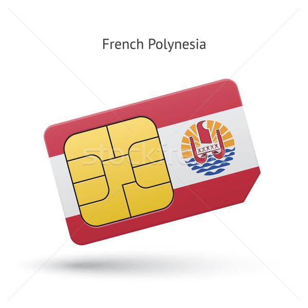 Francese polinesia cellulare carta bandiera business Foto d'archivio © tkacchuk