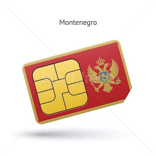 Montenegro mobiele telefoon kaart vlag business ontwerp Stockfoto © tkacchuk