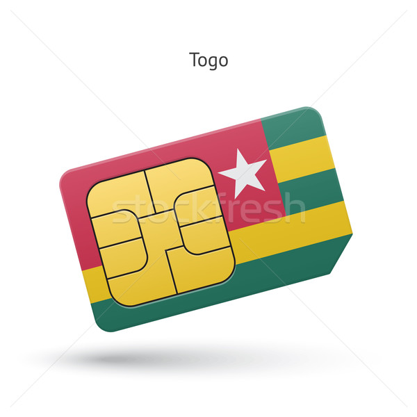 Togo mobile phone sim card with flag. Stock photo © tkacchuk