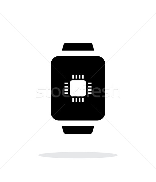 CPU in smart watch simple icon on white background. Stock photo © tkacchuk
