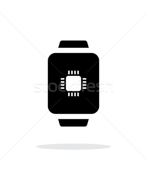 CPU inteligentes ver simple icono blanco Foto stock © tkacchuk