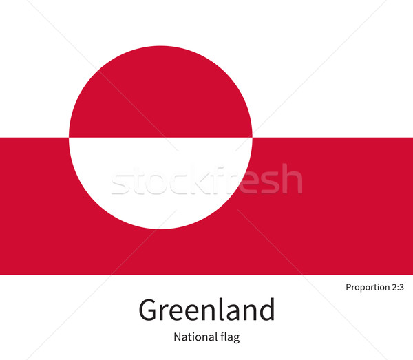 National flag of Greenland with correct proportions, element, colors Stock photo © tkacchuk