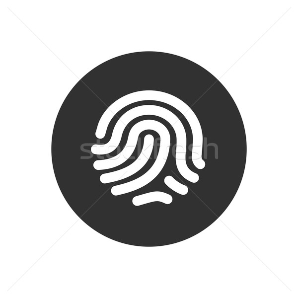 Fingerprint identification system. ID touching secure Stock photo © tkacchuk