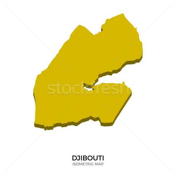 Isometric map of Djibouti detailed vector illustration Stock photo © tkacchuk