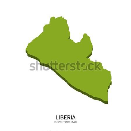 Isometric map of Liberia detailed vector illustration Stock photo © tkacchuk