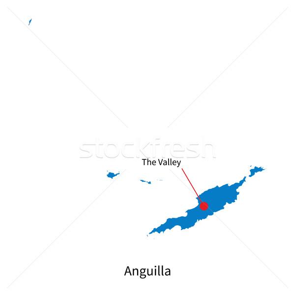 Részletes vektor térkép város völgy oktatás Stock fotó © tkacchuk