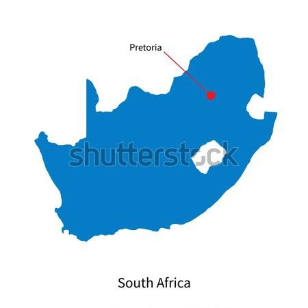 Detailed vector map of KwaNdebele and capital city KwaMhlanga Stock photo © tkacchuk