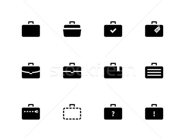 Case icons. Traveling bags and luggage. Stock photo © tkacchuk