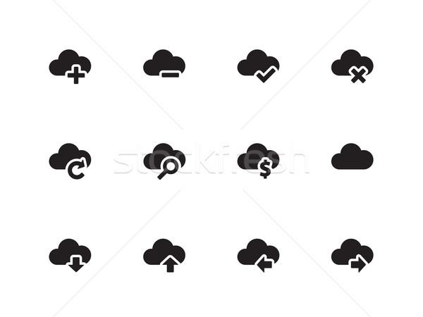 облаке иконки белый интернет ноутбука технологий Сток-фото © tkacchuk