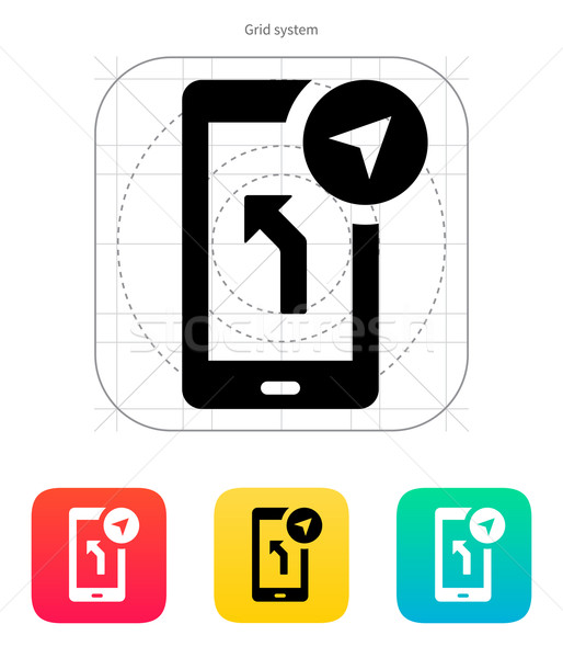 Road navigator icon. Vector illustration. Stock photo © tkacchuk