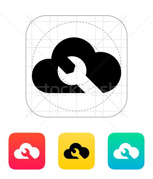 Naprawy chmura icon niebo Internetu metal sieci Zdjęcia stock © tkacchuk