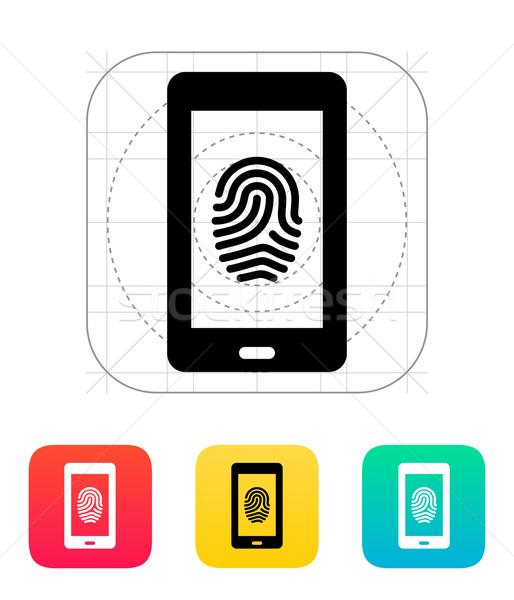 Phone fingerprint icon. Stock photo © tkacchuk