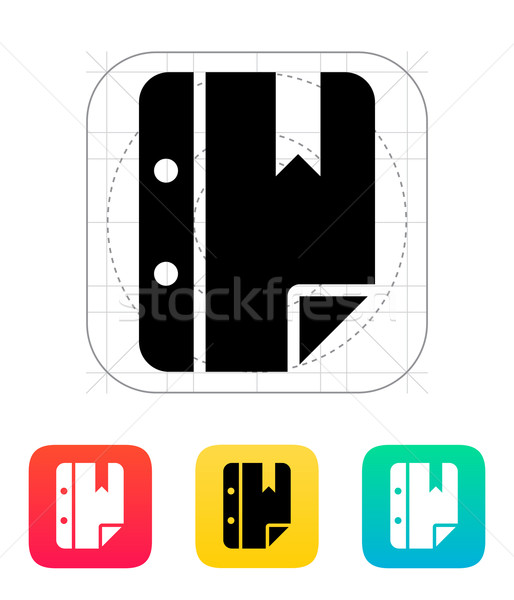 Nota bladwijzer icon business papier ontwerp Stockfoto © tkacchuk