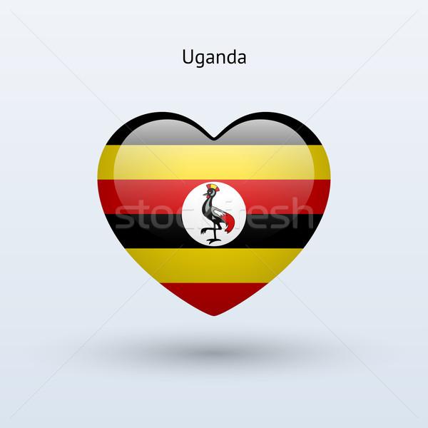 Amore Uganda simbolo cuore bandiera icona Foto d'archivio © tkacchuk