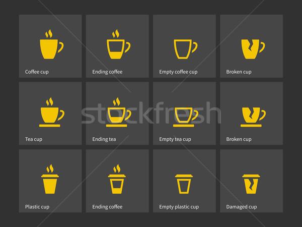 Coffee mug duotone icons. Stock photo © tkacchuk